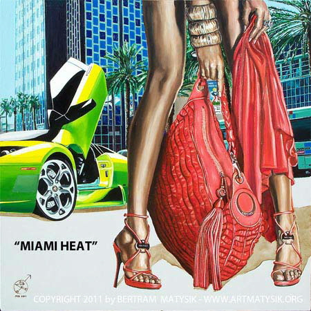 MIAMI-HEAT-Lamborghini-Murcielago-Roadster_Versace-fashioned-Lady-crusing-around-South-Beach-oil-m